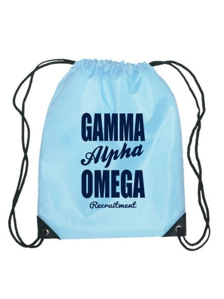 Gamma Alpha Omega Cursive Impact Sports Bag