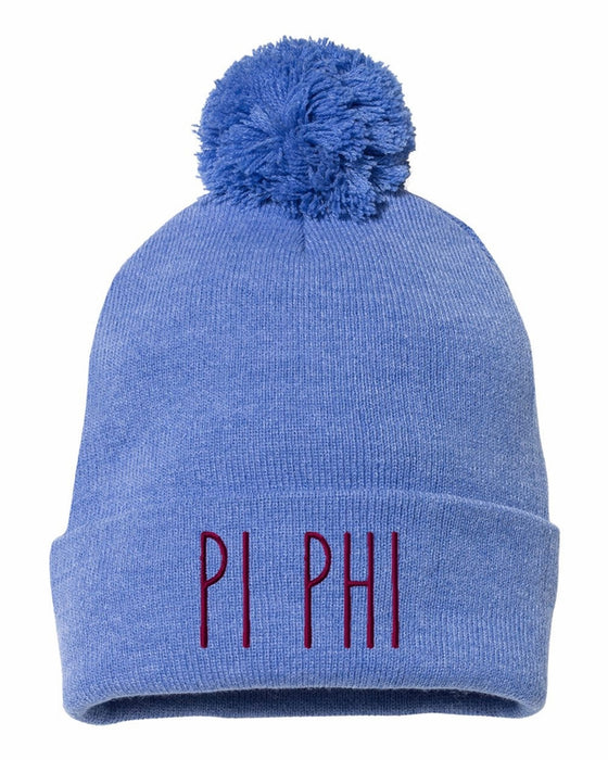 Pi Beta Phi Sorority Beanie With Pom Pom