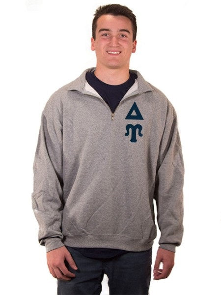 Delta Upsilon Quarter-Zip with Sewn-On Letters