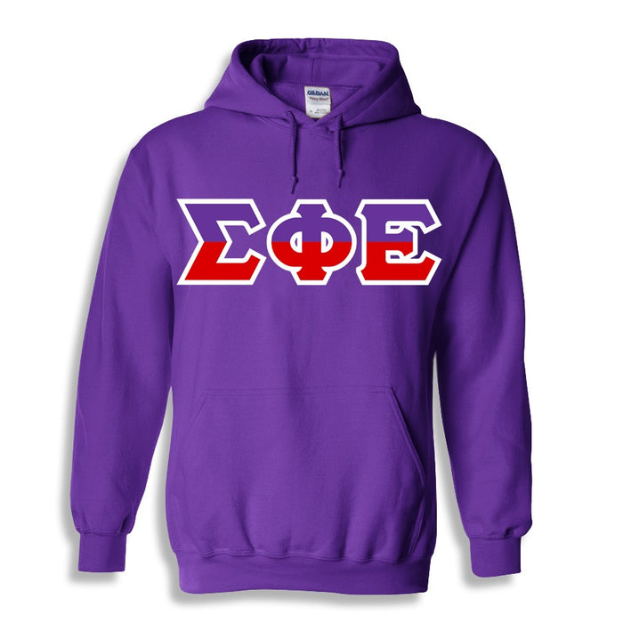 Sigma Phi Epsilon Two Toned Lettered Hooded Sweatshirt
