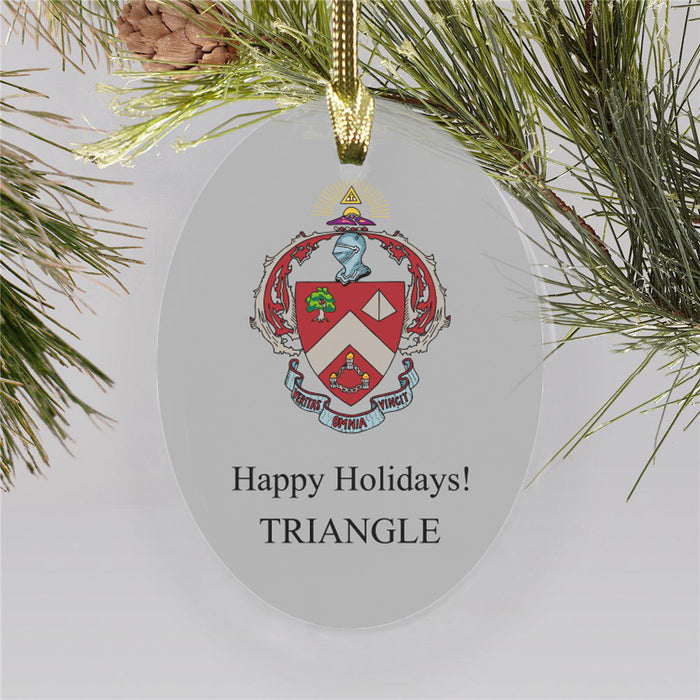 Triangle Color Crest Ornament