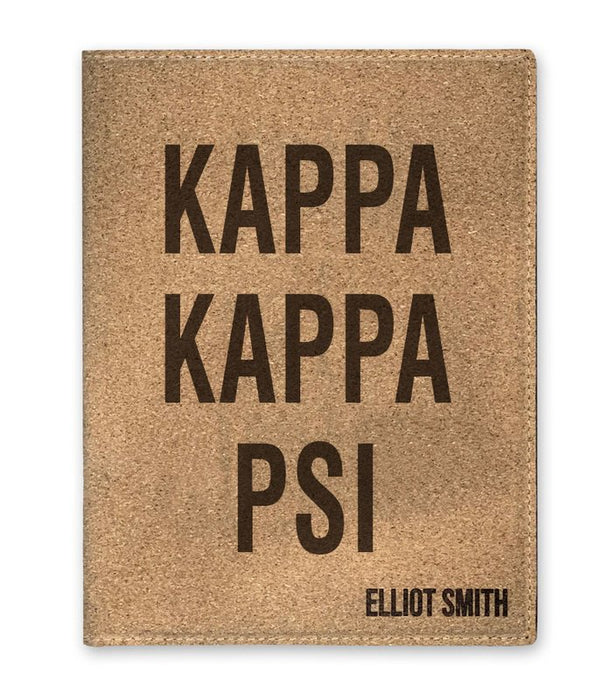 Kappa Kappa Psi Cork Portfolio with Notepad