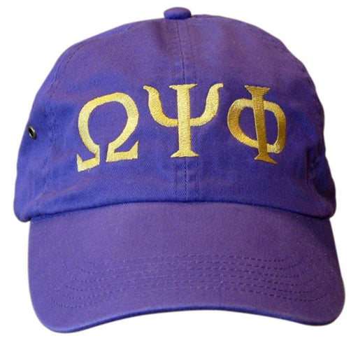 Omega Psi Phi Greek Letter Embroidered Hat