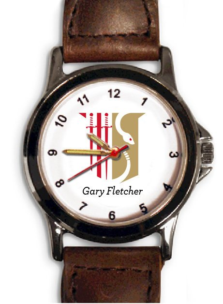 Theta Chi Brown Leather Strap Watch