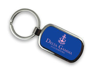 Delta Gamma Chrome Key Chain
