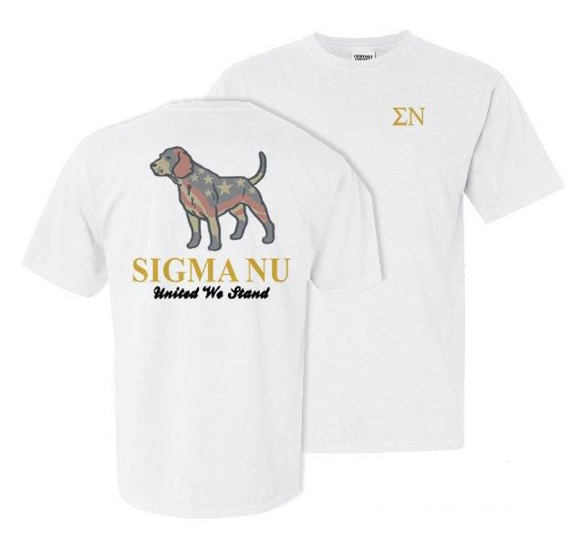 Sigma Nu Stand Tall Comfort Colors Heavy Tee
