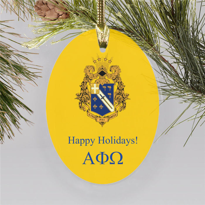 Alpha Phi Omega Color Crest Ornament