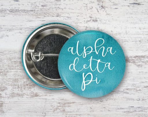 Sorority Watercolor Script Button