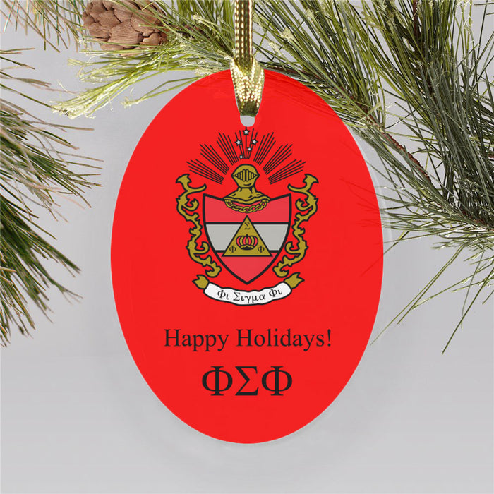 Phi Sigma Phi Color Crest Ornament