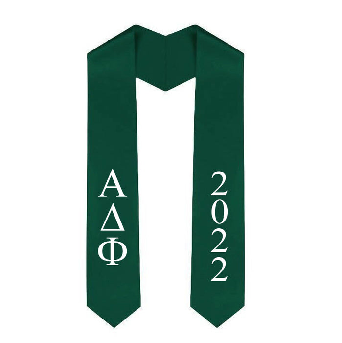 Alpha Delta Phi Vertical Grad Stole with Letters & Year