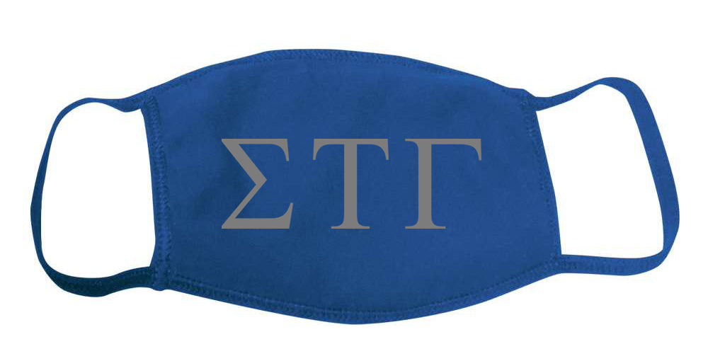 Sigma Tau Gamma Face Mask With Big Greek Letters