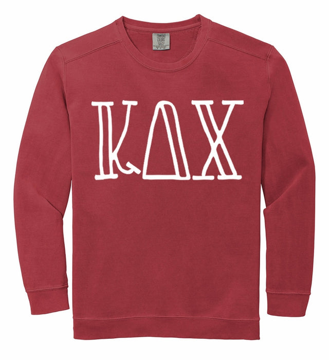 Kappa Delta Chi Comfort Colors Greek Letter Sorority Crewneck Sweatshirt