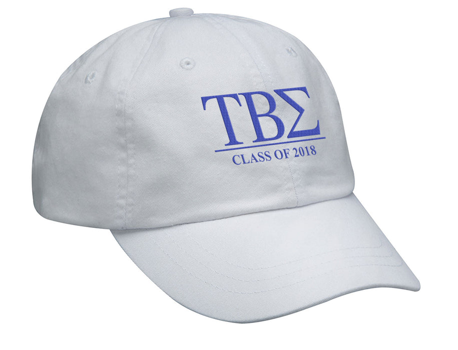 Tau Beta Sigma Embroidered Hat with Custom Text
