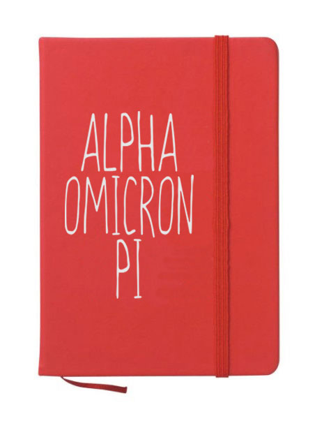 Alpha Omicron Pi Mountain Notebook