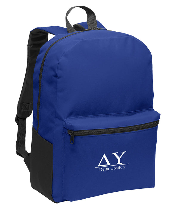 Delta Upsilon Collegiate Embroidered Backpack