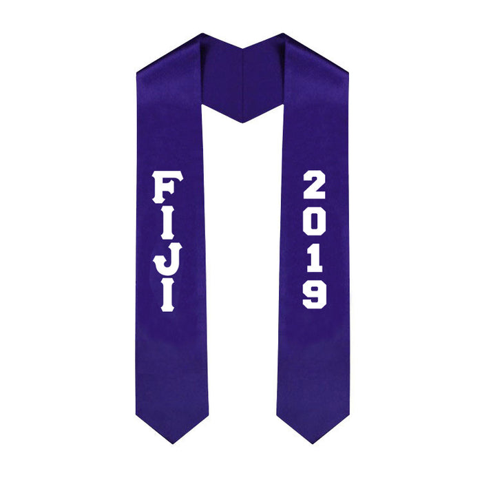 Phi Gamma Delta Vertical Grad Stole with Letters & Year