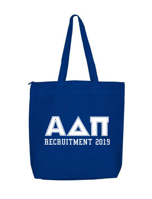 Alpha Delta Pi Collegiate Letters Event Tote Bag