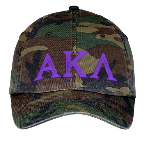 Alpha Kappa Lambda Letters Embroidered Camouflage Hat