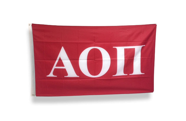 Alpha Omicron Pi Big Flag
