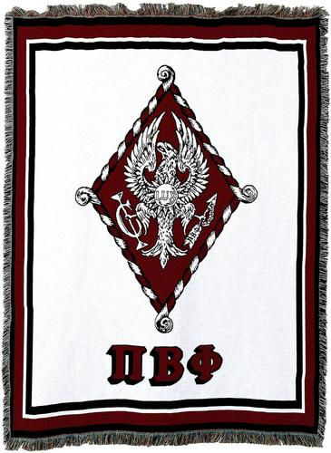 Pi Beta Phi Afghan Blanket Throw