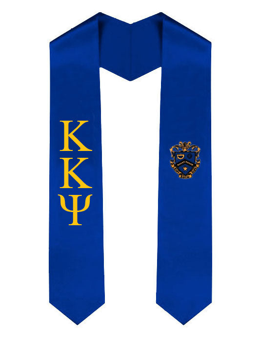 Kappa Kappa Psi Lettered Graduation Sash Stole with Crest