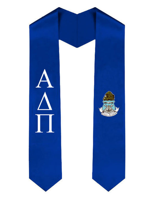 Lettered Graduation Sash Stole with Crest