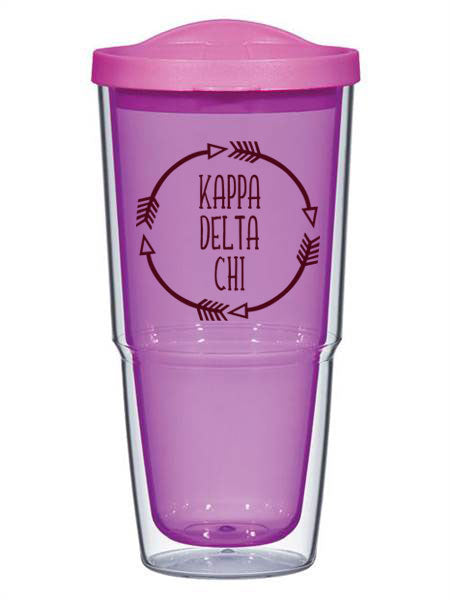 Kappa Delta Chi Circle Arrows 24 oz Tumbler with Lid