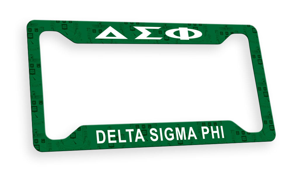 Delta Sigma Phi New License Plate Frame