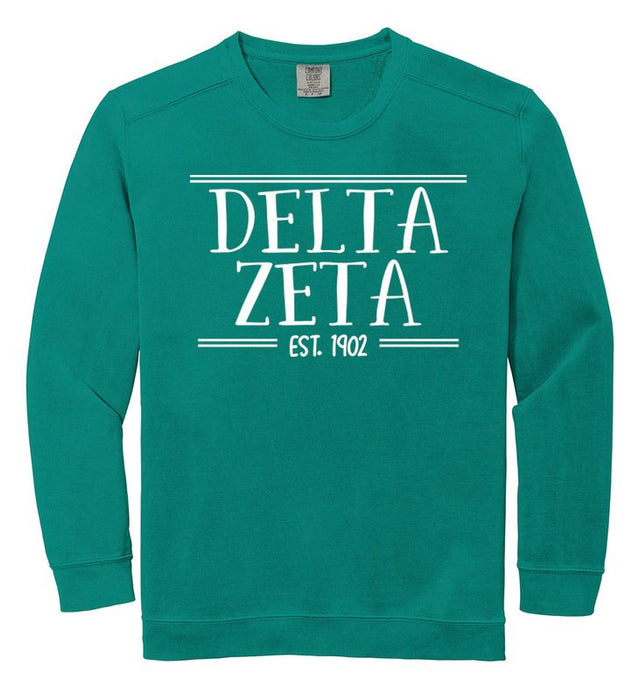 Delta Zeta Comfort Colors Custom Sorority Sweatshirt