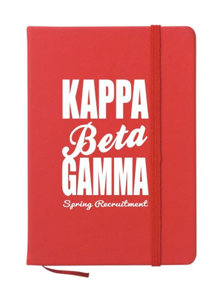 Kappa Beta Gamma Cursive Impact Notebook