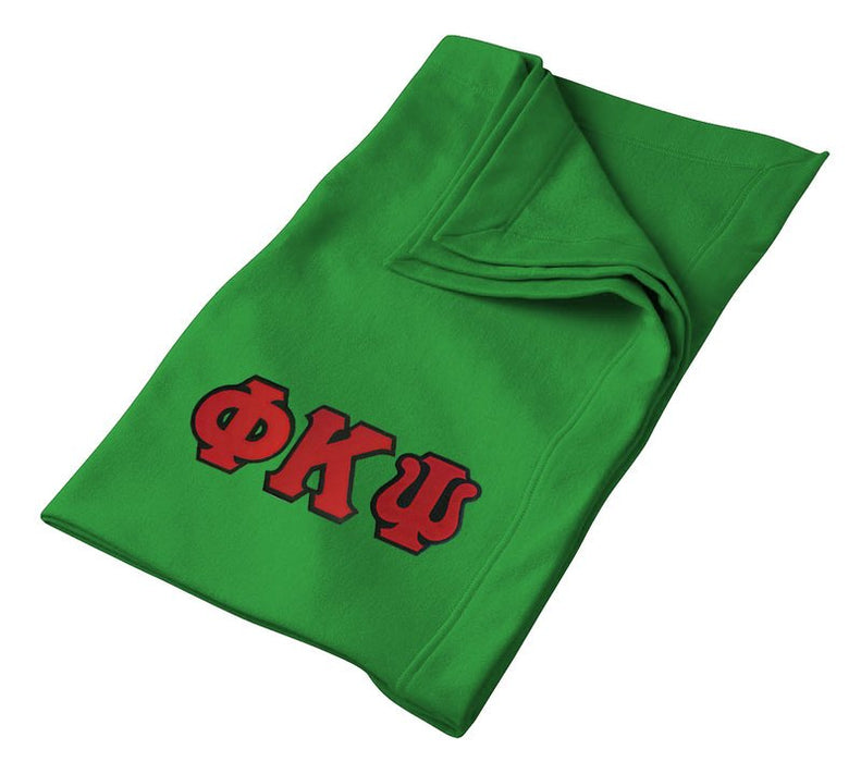 Phi Kappa Psi Greek Twill Lettered Sweatshirt Blanket