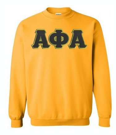 Alpha Phi Alpha Crewneck Sweatshirt with Sewn-On Letters
