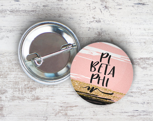 Pi Beta Phi Rose Gold Button