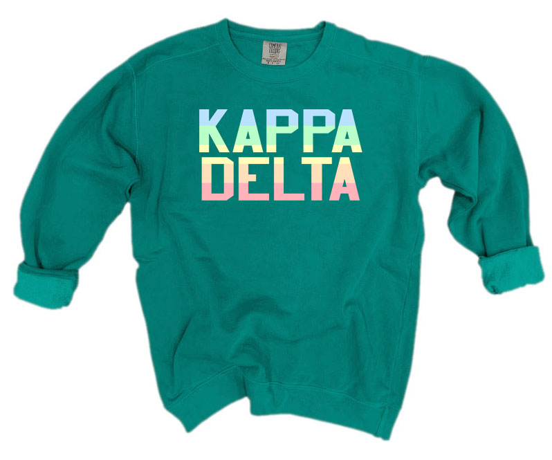 Kappa Delta Comfort Colors Pastel Sorority Sweatshirt