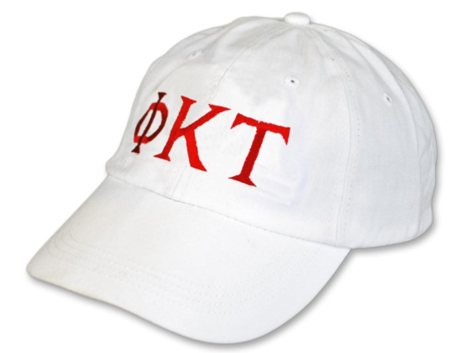 Phi Kappa Tau Greek Letter Embroidered Hat