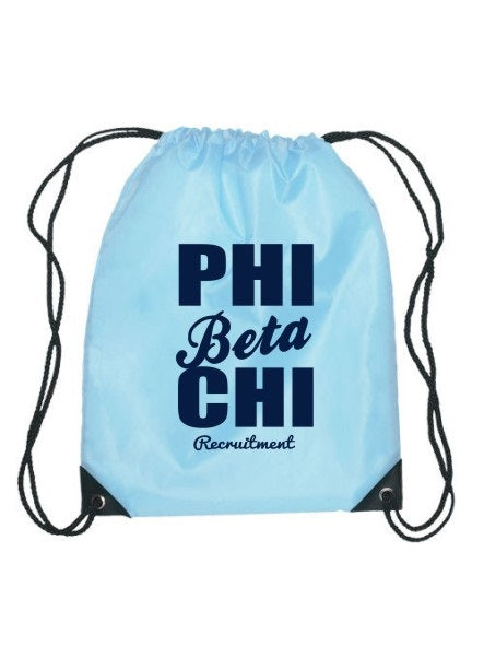 Phi Beta Chi Cursive Impact Sports Bag