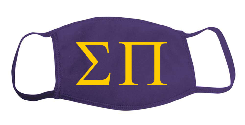 Sigma Pi Face Mask With Big Greek Letters