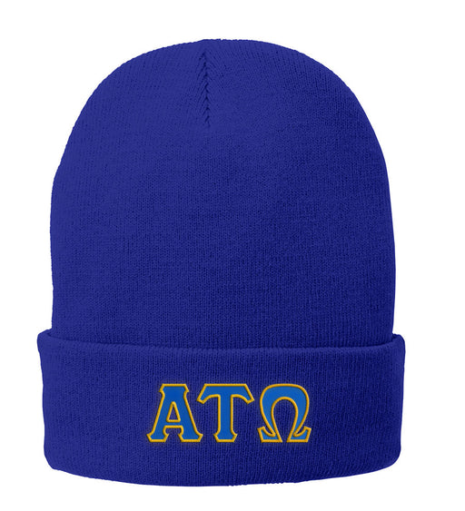 Alpha Tau Omega Lettered Knit Cap
