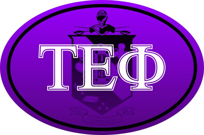 Tau Epsilon Phi Color Oval Decal