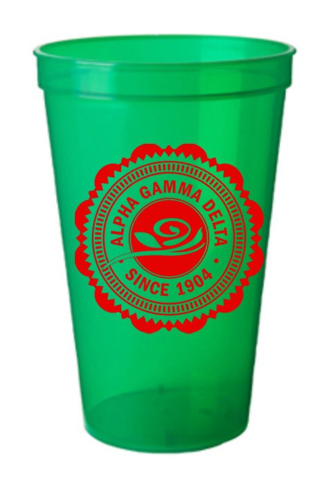 Alpha Gamma Delta Classic Oldstyle Giant Plastic Cup