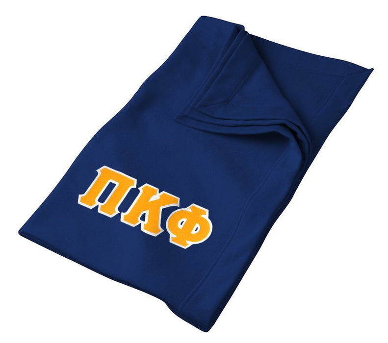 Pi Kappa Phi Greek Twill Lettered Sweatshirt Blanket