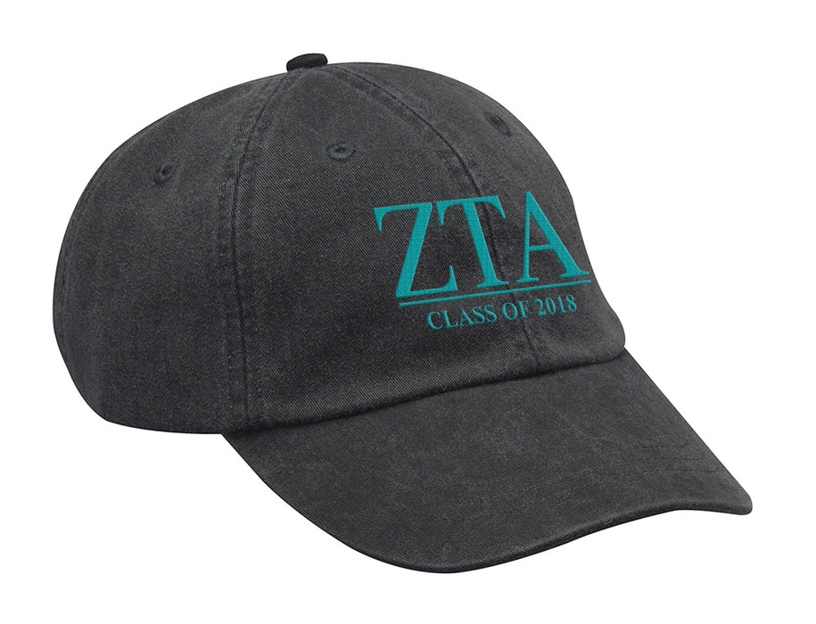Zeta Tau Alpha Embroidered Hat with Custom Text