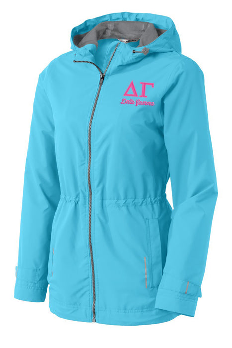 Delta Gamma Embroidered Ladies Northwest Slicker