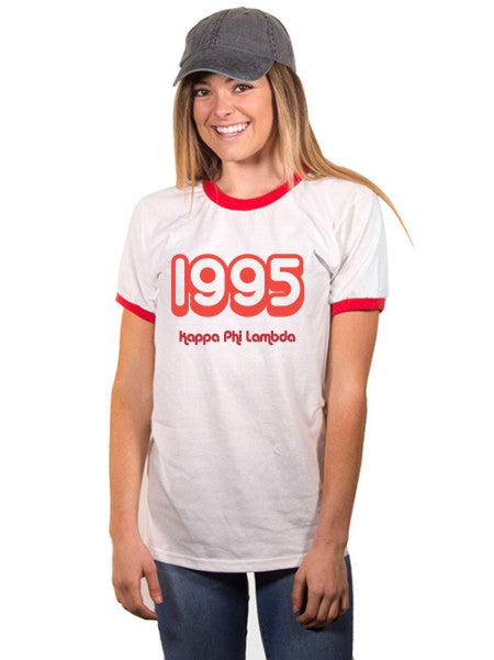 Kappa Phi Lambda Year Established Ringer T-Shirt