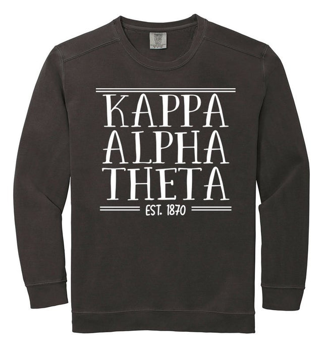 Kappa Alpha Theta Comfort Colors Custom Sorority Sweatshirt