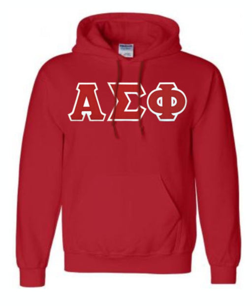 Alpha Sigma Phi Lettered Hoodie