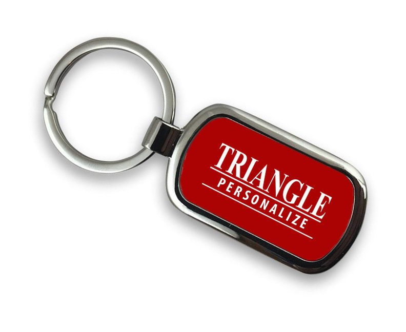 Triangle Chrome Key Chain
