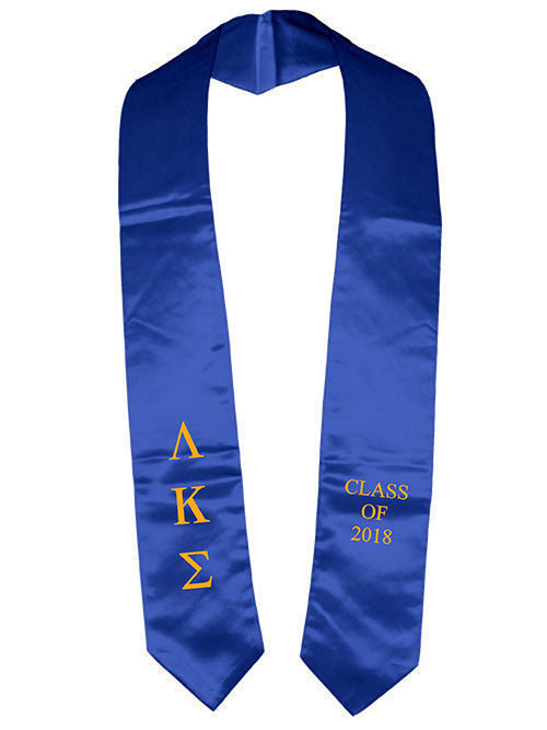 Lambda Kappa Sigma Classic Colors Embroidered Grad Stole