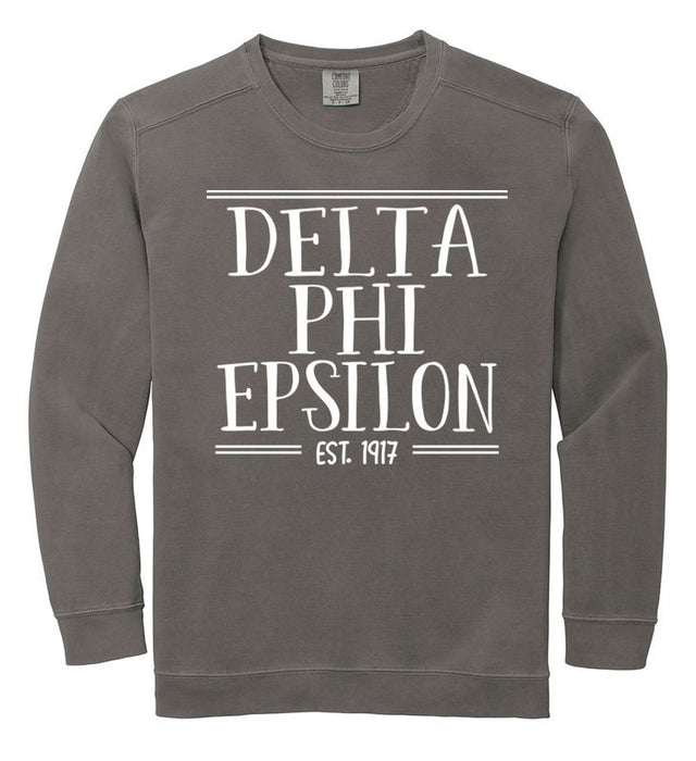 Delta Phi Epsilon Comfort Colors Custom Sorority Sweatshirt