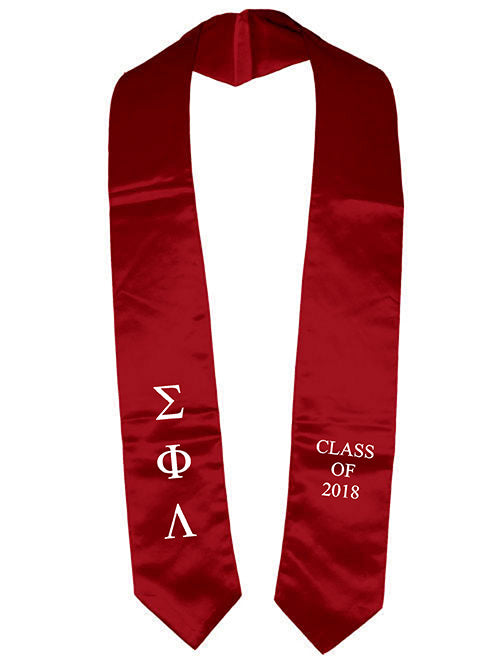 Sigma Phi Lambda Classic Colors Embroidered Grad Stole